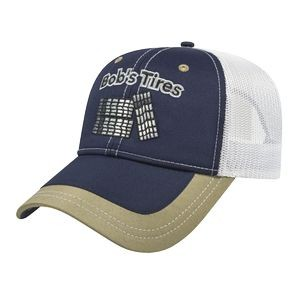 Structured Polyester Mesh Back Cap