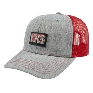 Blended Wool Acrylic Modified Flat Bill with Mesh Back Cap